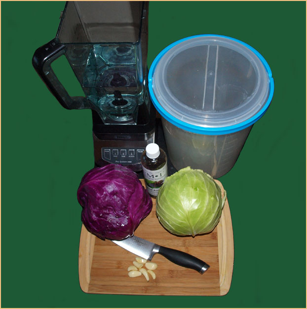 Supplies Needed to Make Fermented Cabbage Juice